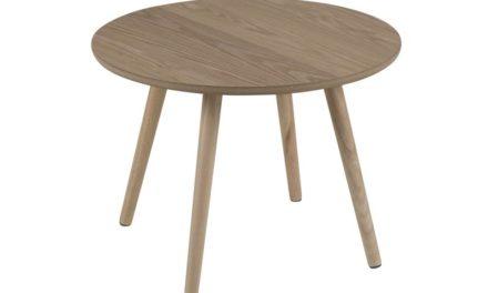 Stafford hjørnebord – natur asketræsfinér/gummitræ, rund (Ø50)