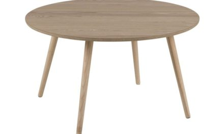 Stafford sofabord – asketræ/gummitræ, rund (Ø80)