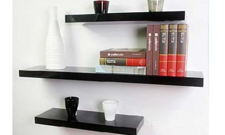Shelf Floating hylde, sort, 60cm