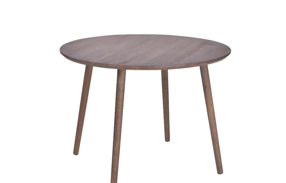 BY TIKA Bamble spisebord – røget eg, rundt (Ø100)