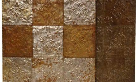 TRADEMARK LIVING Super fin og dekorativ gammel loftplade i jern
