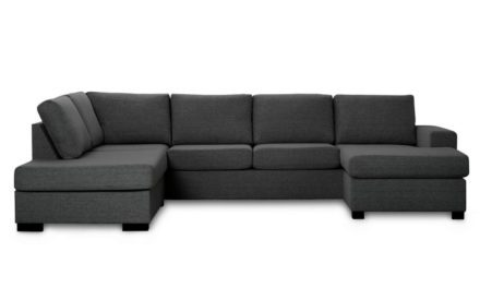 Milan venstrevendt U-sofa – antracitgrå stof