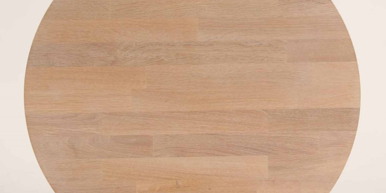 FURBO Spisebord, massiv eg, sorte metalben, 140 x 70 cm. Behandlet eg