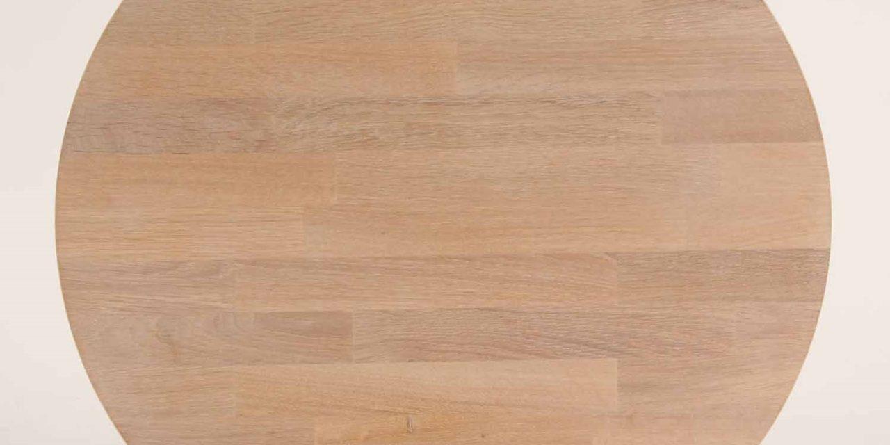 FURBO Spisebord, massiv eg, sorte metalben, 130 x 70 cm. Behandlet eg