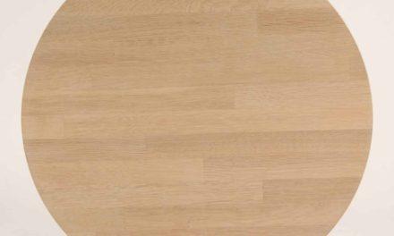 FURBO Spisebord, massiv eg, sorte metalben, 140 x 70 cm. Sæbe eg