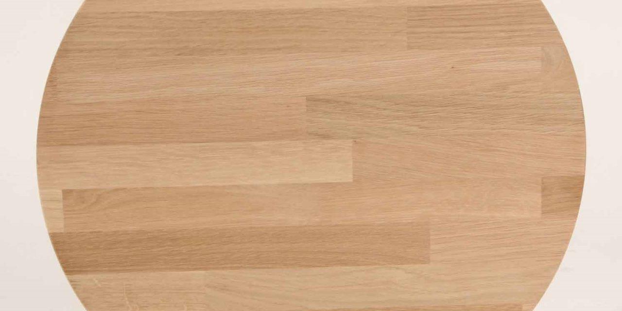 FURBO Spisebord, massiv eg, sorte metalben, 140 x 70 cm. Olieret eg