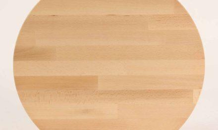 FURBO Spisebord, massiv bøg, ø 80 cm. Lakeret bøg