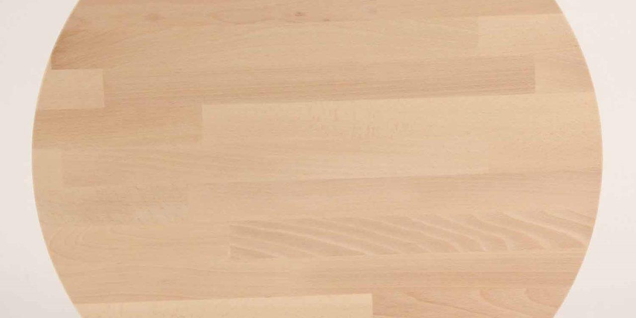 FURBO Spisebord, massiv bøg, ø 80 cm. Sæbe bøg