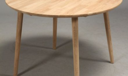 FURBO Spisebord, massiv eg, ø 100 cm. Olieret eg