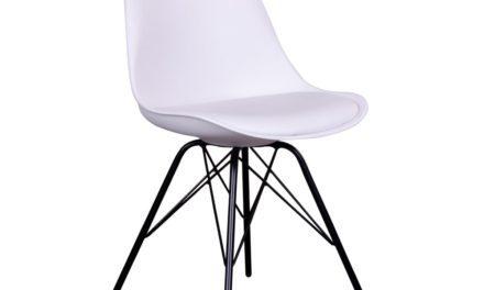 HOUSE NORDIC Oslo spisebordsstol i hvid med sorte ben