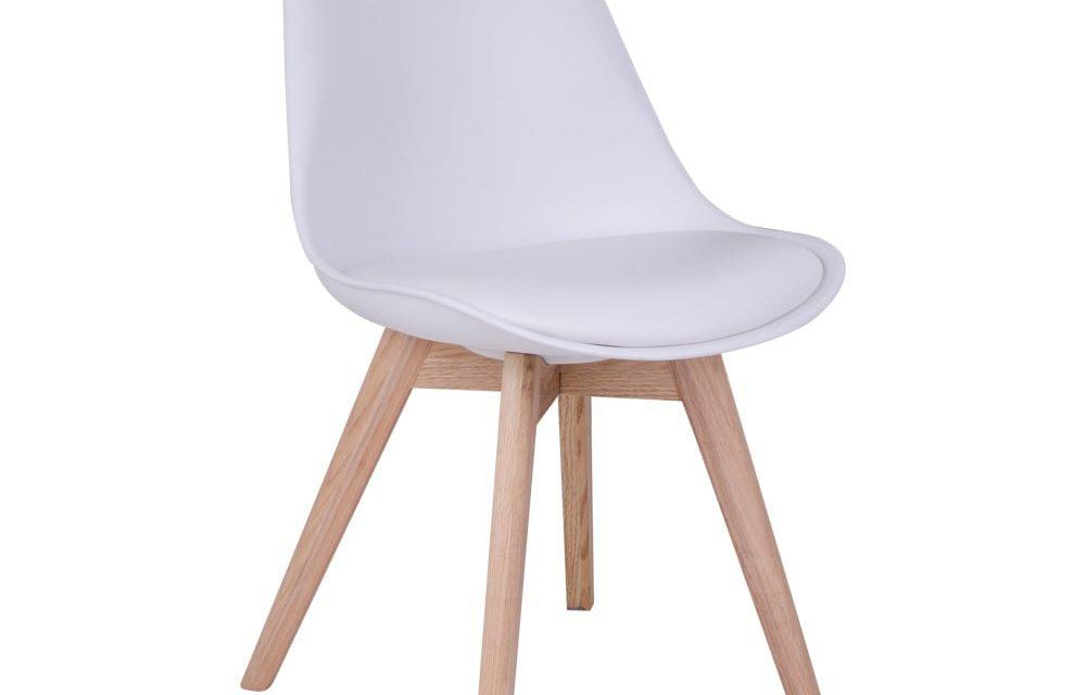 House Nordic Molde Spisebordsstol i flot Træ og hvid plastik