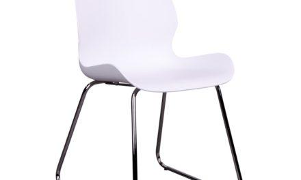 HOUSE NORDIC Sola spisebordsstol i hvid med krom ben