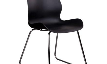 HOUSE NORDIC Sola spisebordsstol i sort med krom ben