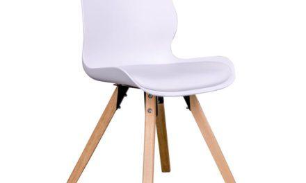 HOUSE NORDIC Rana spisebordsstol i hvid med natur træben