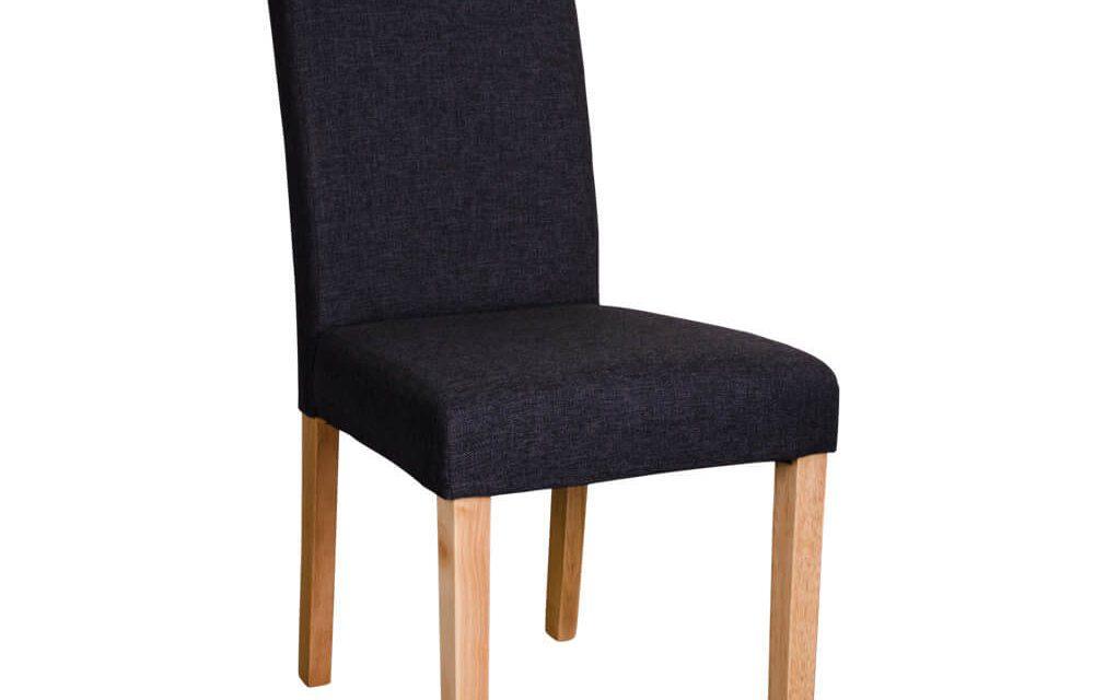 HOUSE NORDIC Mora spisebordsstole i mørkegråt stof med natur træben