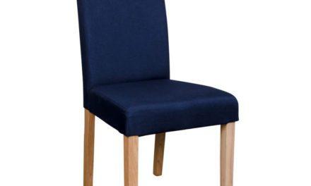HOUSE NORDIC Mora spisebordsstole i blåt stof med natur træben