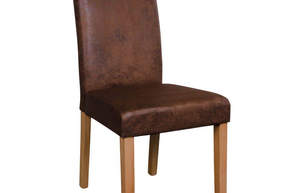 HOUSE NORDIC Mora spisebordsstole i antik brunt stof med natur træben