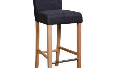 HOUSE NORDIC Boden barstol i mørkegrå med natur træben