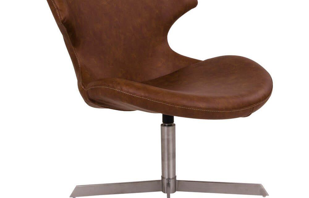 HOUSE NORDIC Zampi lænestol i brunt kunstlæder