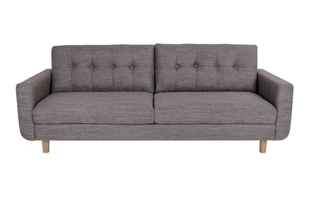 HOUSE NORDIC Artena 3 personers sofa i lysegråt stof