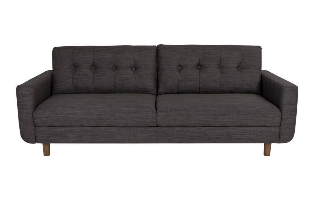 HOUSE NORDIC Artena 3 personers sofa i mørkegråt stof