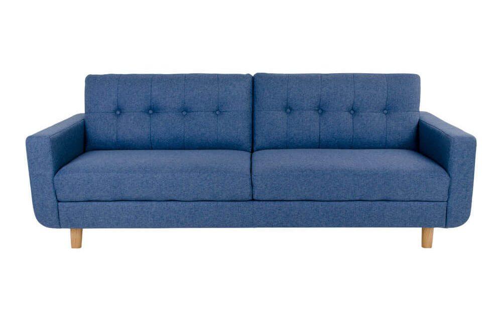 HOUSE NORDIC Artena 3 personers sofa i blåt stof