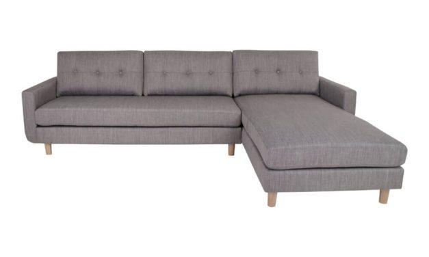 HOUSE NORDIC Artena Lounge sofa i lysegråt stof – højrevendt
