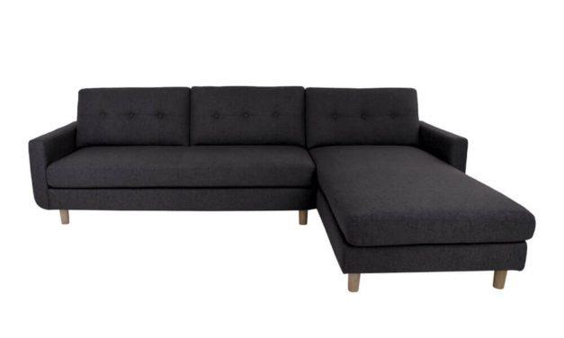 HOUSE NORDIC Artena Lounge sofa i mørkegråt stof – højrevendt