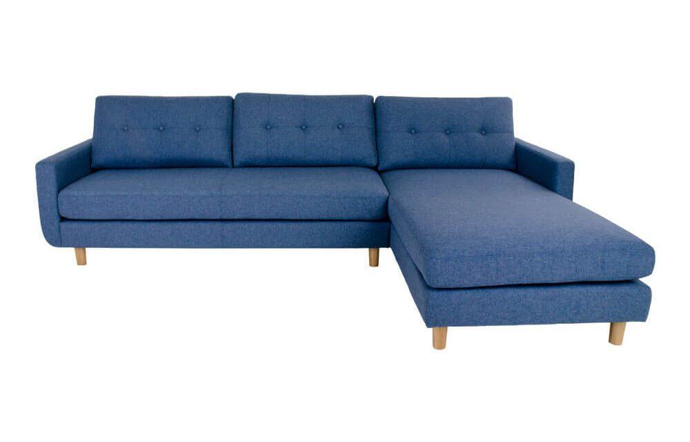 HOUSE NORDIC Artena Lounge sofa i blåt stof – højrevendt