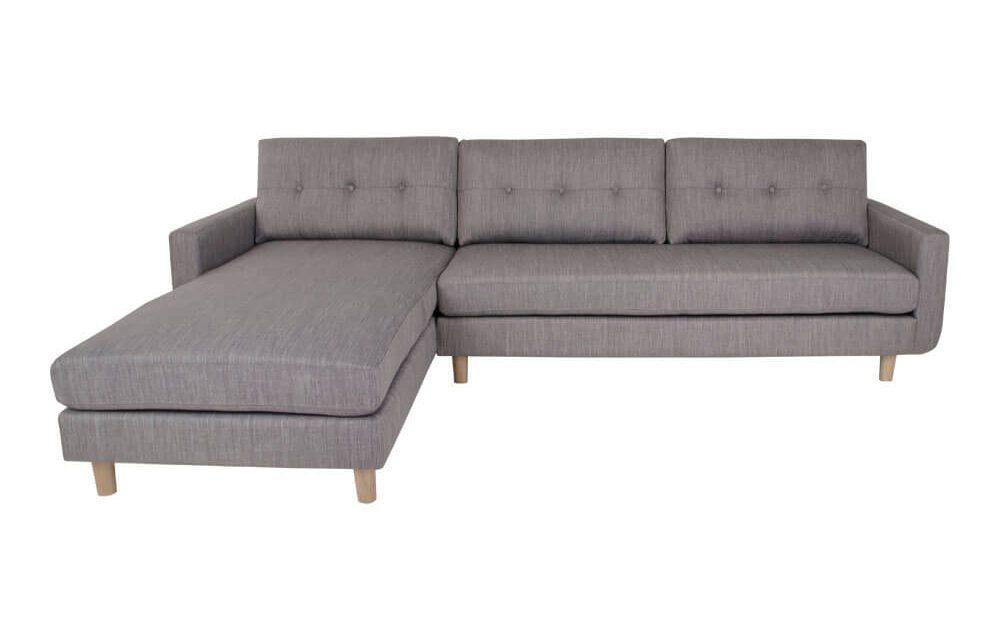 HOUSE NORDIC Artena Lounge sofa i lysegråt stof – venstrevendt