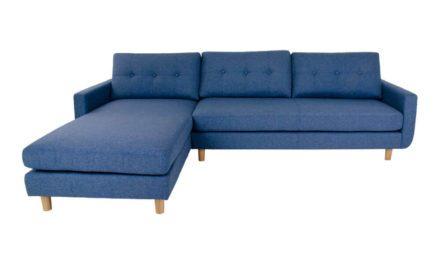 HOUSE NORDIC Artena Lounge sofa i blåt stof – venstrevendt