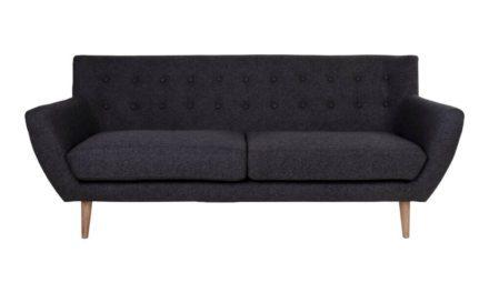 HOUSE NORDIC Monte 3 personers sofa i mørkegråt stof