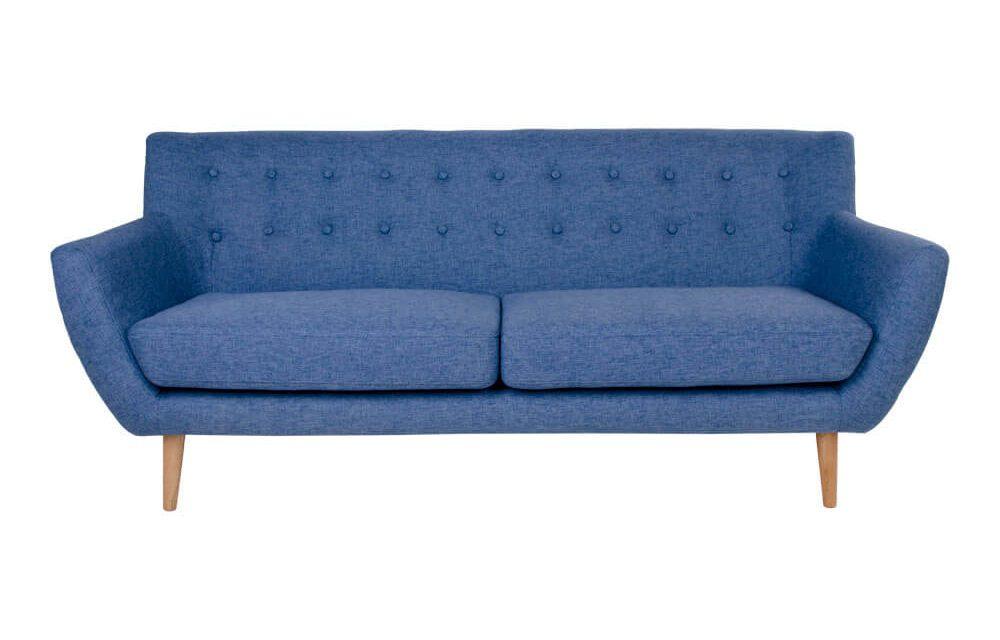 HOUSE NORDIC Monte 3 personers sofa i blåt stof
