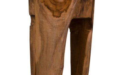 HOUSE NORDIC Rose Teak taburet i teaktræ med 3 ben