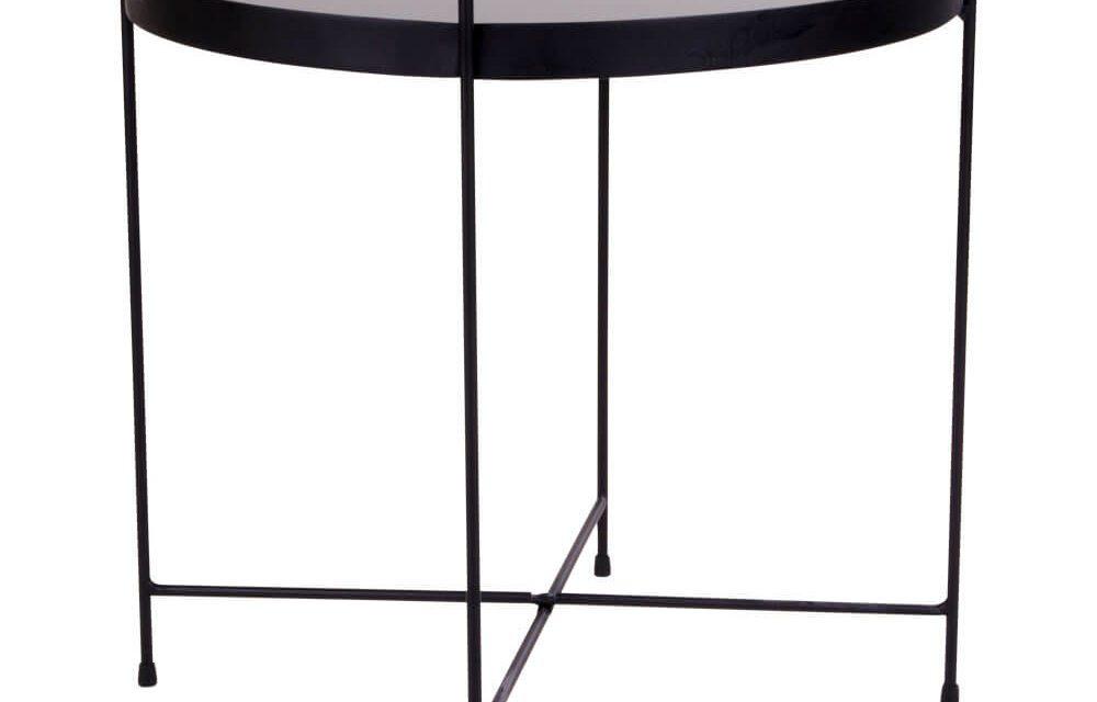 HOUSE NORDIC Venezia hjørnebord – sort stål med glas