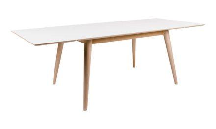 HOUSE NORDIC Copenhagen spisebord – hvid/natur incl. 2 tillægsplader