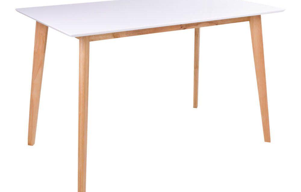 HOUSE NORDIC Vojens spisebord i hvid og natur