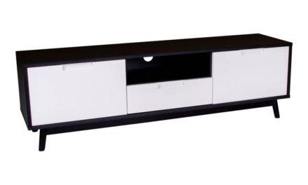 HOUSE NORDIC Copenhagen TV-bænk i hvid og sort