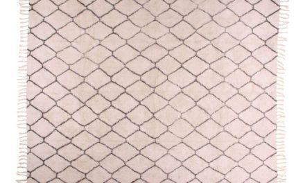 HOUSE NORDIC Goa tæppe i naturfarvet bomuld med print
