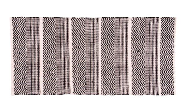 HOUSE NORDIC Harber tæppe – Naturfarvet, vævet i mønster