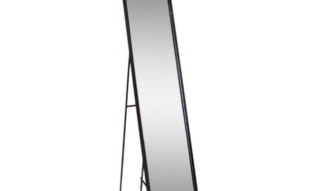HOUSE NORDIC Avola gulvspejl – Spejl i sort metal