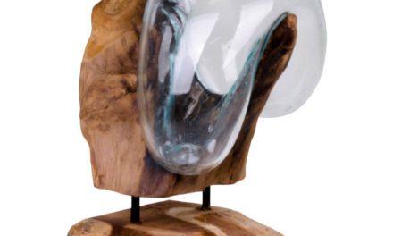 HOUSE NORDIC San Marino Vanddråbe – Vanddråbe i glas med træfod