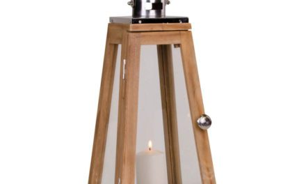 HOUSE NORDIC Eremitt lanterne i natur m. håndtag