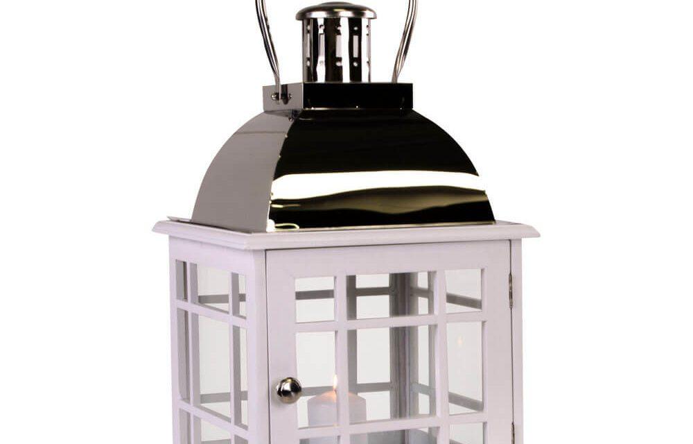 HOUSE NORDIC Varme lanterne i hvid m. håndtag