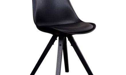 HOUSE NORDIC Bergen spisebordsstol i sort med sorte træben