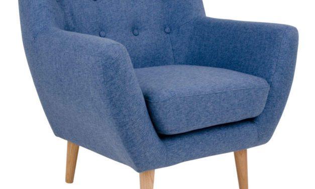 Blåt Stof Monte lænestol fra House Nordic til din bolig