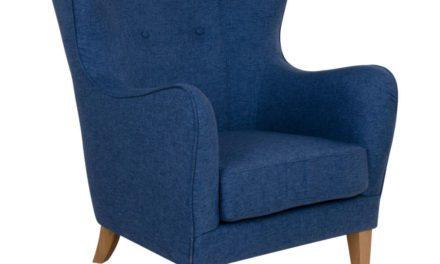 HOUSE NORDIC Campo lænestol i blåt stof