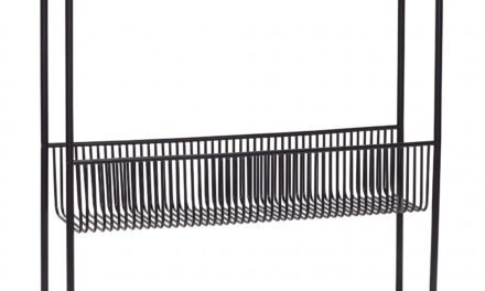 HÜBSCH konsolbord m. hylde, sort metal