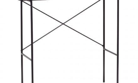 HÜBSCH konsolbord, sort metal