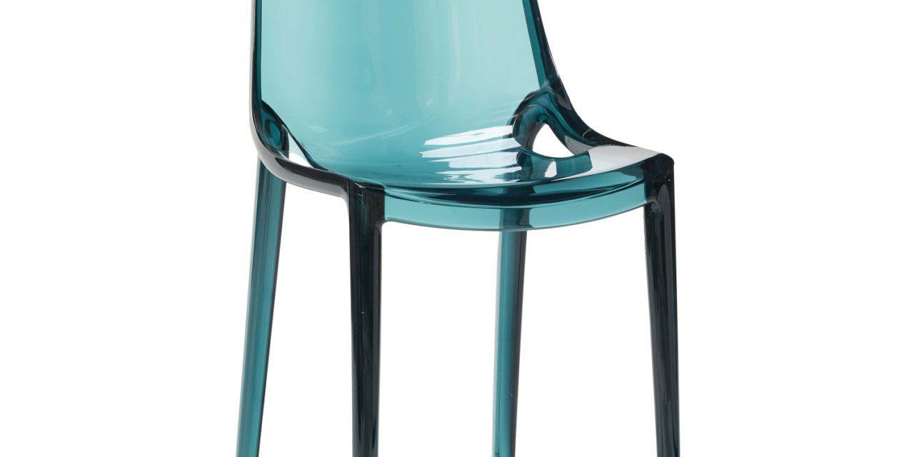 HÜBSCH spisebordsstol af grøn klar plastik